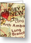 New York City Map Greeting Cards - NYC ENLARGED - MIDDLE Panel of 3 Greeting Card by ELITE IMAGE photography By Chad McDermott