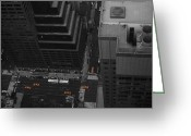 Taxi Cab Greeting Cards - NYC from the Top 1 Greeting Card by Irina  March