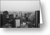 Manhattan Greeting Cards - NYC from the Top 3 Greeting Card by Irina  March