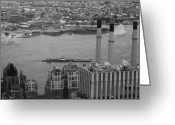Taxi Cab Greeting Cards - NYC from the Top 4 Greeting Card by Irina  March