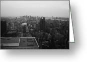 Manhattan Greeting Cards - NYC from the Top 5 Greeting Card by Irina  March