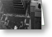 Taxi Cab Greeting Cards - NYC from the Top Greeting Card by Irina  March