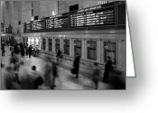 Station Greeting Cards - NYC Grand Central Station Greeting Card by Nina Papiorek