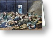 Winslow Homer Greeting Cards - Nyc: Homeless, 1874 Greeting Card by Granger
