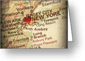 New York City Map Greeting Cards - Nyc Map Whole Greeting Card by ELITE IMAGE photography By Chad McDermott