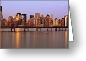 Alhaji Samura Greeting Cards - NYC on a Bridge Greeting Card by Alhaji Samura
