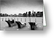 Manhattan Greeting Cards - NYC Relax Greeting Card by Nina Papiorek