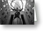 Rockefellar Greeting Cards - NYC Rockefellar Center Greeting Card by Nina Papiorek