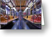 Kelley King Greeting Cards - NYC Subway Greeting Card by Kelley King