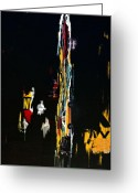 Graffiti Art For The Home Greeting Cards - NYC TAXI Abstract Greeting Card by Anahi DeCanio