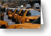 The Capital Of The World Greeting Cards - NYC Traffic Color 16 Greeting Card by Scott Kelley