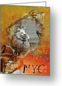 Nyc Graffiti Greeting Cards - NYC Urban Lion Greeting Card by AdSpice Studios