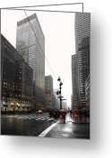 Tall Buildings Greeting Cards - Nyc044 Greeting Card by Svetlana Sewell