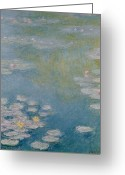 Waterlilies Greeting Cards - Nympheas at Giverny Greeting Card by Claude Monet
