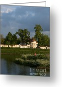 Nymphenburg Greeting Cards - Nymphenburg palace buildings Greeting Card by Andrew  Michael