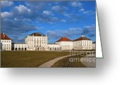 Nymphenburg Greeting Cards - Nymphenburg palace in Spring time Greeting Card by Andrew  Michael