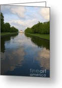 Nymphenburg Greeting Cards - Nymphenburg palace lake Greeting Card by Andrew  Michael