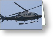 New York City Police Greeting Cards - NYPD Aviation Unit Greeting Card by Christopher Kirby