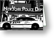 New York Cops Greeting Cards - Nypd Bw3 Greeting Card by Scott Kelley