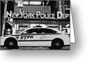 New York Cops Greeting Cards - Nypd Bw8 Greeting Card by Scott Kelley