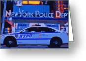 New York Cops Greeting Cards - NYPD Color 16 Greeting Card by Scott Kelley