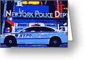 Ny Police Department Greeting Cards - NYPD Color 6 Greeting Card by Scott Kelley