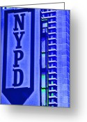New York City Police Greeting Cards - Nypd Greeting Card by Karol  Livote