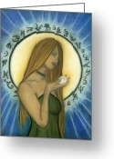 Magick Greeting Cards - Nyx Goddess of Night Greeting Card by Natalie Roberts