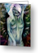 Goddess Posters Greeting Cards - Nyx Greeting Card by Roger Williamson