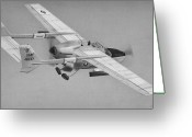 Airplane Greeting Cards - O-2A Skymaster Greeting Card by Dale Jackson