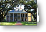 Charm Greeting Cards - Oak Alley Plantation Greeting Card by Carol Groenen