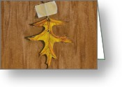 Oak Pastels Greeting Cards - Oak Leaf Greeting Card by Joanne Grant