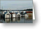 Shelton Greeting Cards - Oakland Bay Marina Greeting Card by Patricia Strand