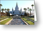 Oakland California Greeting Cards - Oakland California Temple . The Church of Jesus Christ of Latter-Day Saints . 7D11305 Greeting Card by Wingsdomain Art and Photography