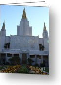 Harold Burton Greeting Cards - Oakland California Temple . The Church of Jesus Christ of Latter-Day Saints . 7D11324 Greeting Card by Wingsdomain Art and Photography