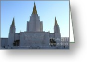 Harold Greeting Cards - Oakland California Temple . The Church of Jesus Christ of Latter-Day Saints . 7D11326 Greeting Card by Wingsdomain Art and Photography
