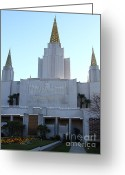 Harold Burton Greeting Cards - Oakland California Temple . The Church of Jesus Christ of Latter-Day Saints . 7D11327 Greeting Card by Wingsdomain Art and Photography
