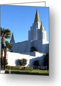 Harold Greeting Cards - Oakland California Temple . The Church of Jesus Christ of Latter-Day Saints . 7D11329 Greeting Card by Wingsdomain Art and Photography