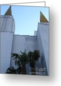 Harold Burton Greeting Cards - Oakland California Temple . The Church of Jesus Christ of Latter-Day Saints . 7D11331 Greeting Card by Wingsdomain Art and Photography