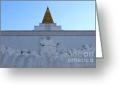 Harold Burton Greeting Cards - Oakland California Temple . The Church of Jesus Christ of Latter-Day Saints . 7D11334 Greeting Card by Wingsdomain Art and Photography