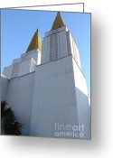 Harold Burton Greeting Cards - Oakland California Temple . The Church of Jesus Christ of Latter-Day Saints . 7D11336 Greeting Card by Wingsdomain Art and Photography
