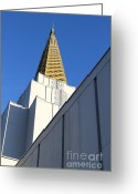 Harold Burton Greeting Cards - Oakland California Temple . The Church of Jesus Christ of Latter-Day Saints . 7D11338 Greeting Card by Wingsdomain Art and Photography