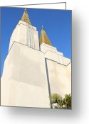 Harold Burton Greeting Cards - Oakland California Temple . The Church of Jesus Christ of Latter-Day Saints . 7D11345 Greeting Card by Wingsdomain Art and Photography