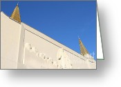 Harold Burton Greeting Cards - Oakland California Temple . The Church of Jesus Christ of Latter-Day Saints . 7D11347 Greeting Card by Wingsdomain Art and Photography