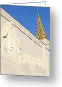 Harold Burton Greeting Cards - Oakland California Temple . The Church of Jesus Christ of Latter-Day Saints . 7D11348 Greeting Card by Wingsdomain Art and Photography