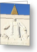 Churches Photo Greeting Cards - Oakland California Temple . The Church of Jesus Christ of Latter-Day Saints . 7D11350 Greeting Card by Wingsdomain Art and Photography