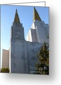 Harold Burton Greeting Cards - Oakland California Temple . The Church of Jesus Christ of Latter-Day Saints . 7D11357 Greeting Card by Wingsdomain Art and Photography