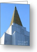 Churches Photo Greeting Cards - Oakland California Temple . The Church of Jesus Christ of Latter-Day Saints . 7D11358 Greeting Card by Wingsdomain Art and Photography