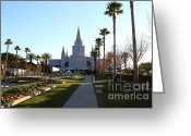 Harold Burton Greeting Cards - Oakland California Temple . The Church of Jesus Christ of Latter-Day Saints . 7D11371 Greeting Card by Wingsdomain Art and Photography