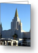 Harold Burton Greeting Cards - Oakland California Temple . The Church of Jesus Christ of Latter-Day Saints . 7D11374 Greeting Card by Wingsdomain Art and Photography